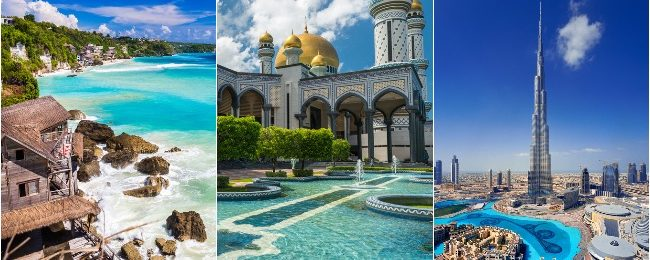 Brunei, Dubai and many Asian destinations or Australia in one trip from London from only £461!