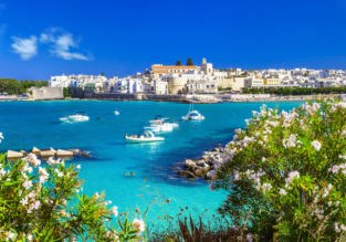 Early Summer! 7 nights at beachfront hotel in Puglia, South of Italy + cheap flights from Switzerland for just €164!