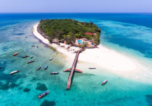 7-night B&B stay in top rated beach hotel in Zanzibar + flights from Italy from only €584!