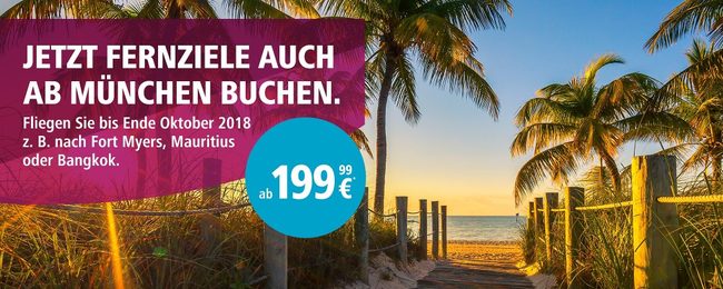 Eurowings to launch new direct routes from Munich to many exotic destinations! Tickets on sale from €400!
