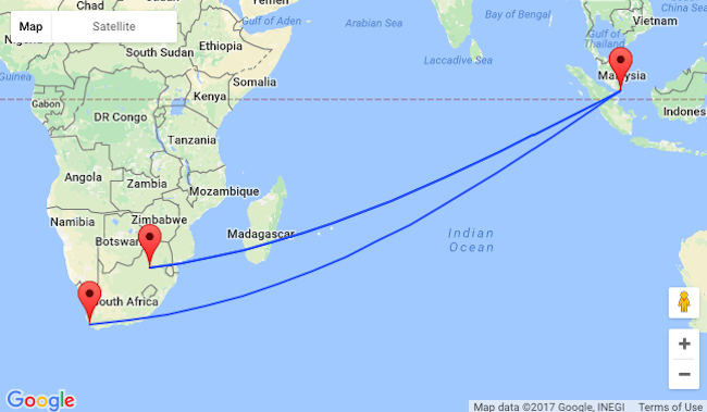 Xmas and NYE! Fly from Singapore to South Africa for $560!