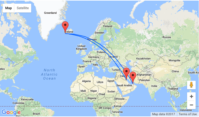 Kuwait Or Dubai To Iceland From Only 422