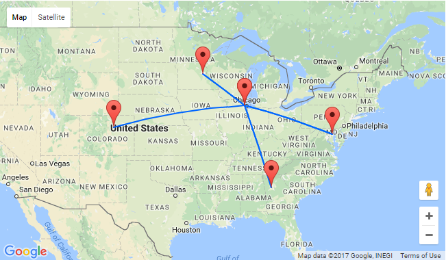 chicago to atlanta map Summer Non Stop From Chicago To Atlanta Minneapolis Washington chicago to atlanta map