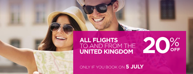 SUMMER: 20% off Wizz Air flights from/to the UK! Open to everybody!