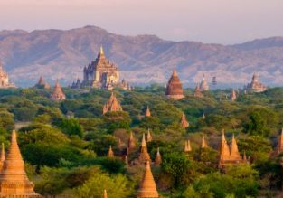 Cheap non-stop flights from Bangkok to Mandalay, Myanmar (gateway to Bagan) from only $85!