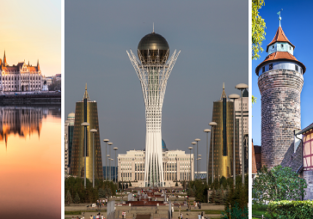 Bulgaria, Hungary, Kazakhstan and Germany in one trip from London from only £99!