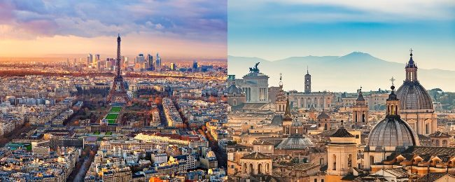 Non-stop from New York to Rome or Paris from only $139 one way!