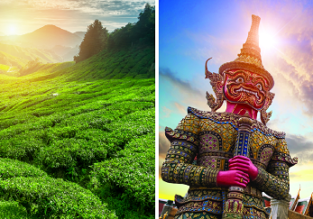 2 in 1: East Coast Australia to both Colombo, Sri Lanka & Bangkok, Thailand from AU$796!