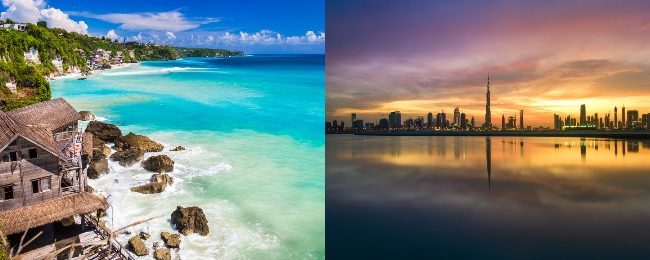 Emirates: Bali and Dubai in one trip from Stockholm from €484!
