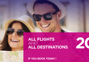 Wizzair Sale: 20% off on all routes!