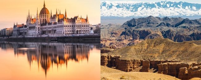 Hungary and Kazakhstan in one trip from Germany for only €92!