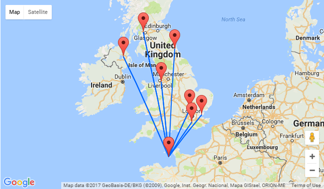 Map Of Uk Including Jersey.Cheap Flights From Many Uk Cities To Jersey From Only 22
