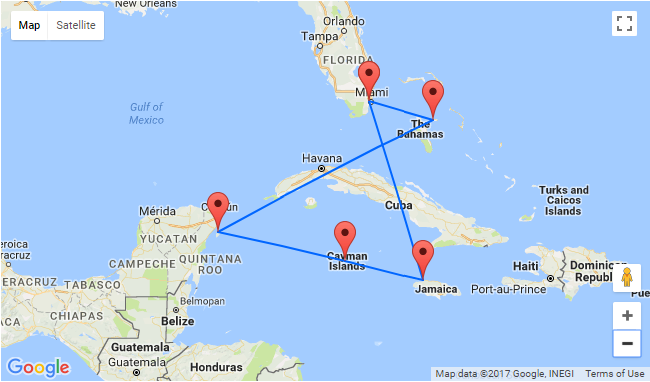 Flights from UK to Miami  7night Full Board Western Caribbean