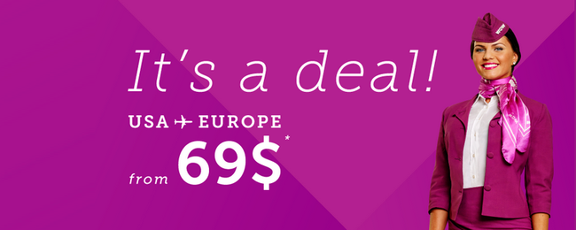 Flights from US cities to Iceland for just $69 one way! Many cities in Europe for $89 one way!