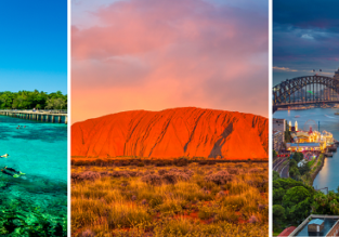 3 in 1: Almost every US or CA airport to three Australian cities (many options) in one trip from only $782!