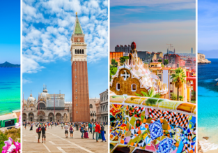 4 in 1: Birmingham to Corfu, Venice, Barcelona and Mallorca for only £53!