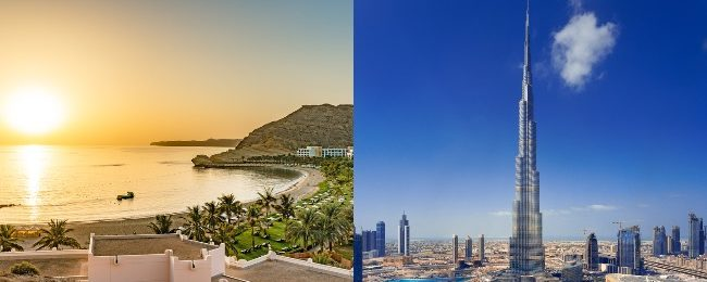 Fly from UK to Dubai or Oman from only £205!