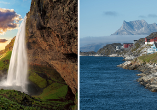 Peak summer! Greenland & Iceland in one trip from Germany for only €444!