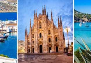 3 in 1: Mykonos, Milan and Ibiza in one trip from London for £80!