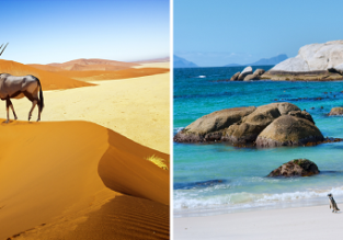 Cheap flights from Porto or Lisbon to Namibia, returning from Cape Town or Johannesburg, South Africa from €321!