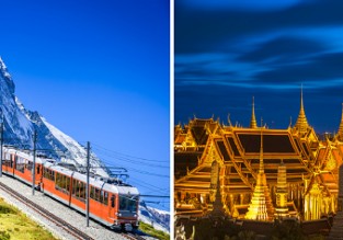 AU cities to Zurich, Switzerland from AU$953! 2 in 1 with Bangkok, Thailand for AU$103 more!