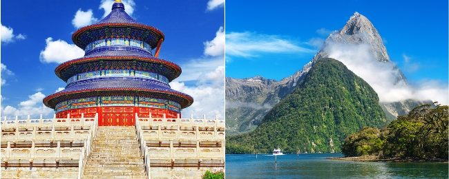 China and New Zealand in one trip from London for only £533!