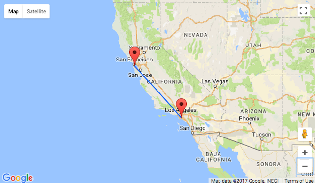 Summer: non-stop from San Francisco to Long Beach and vice-versa for only $68!