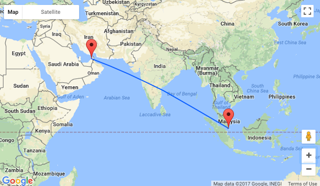 From Jakarta To India Only 132 2