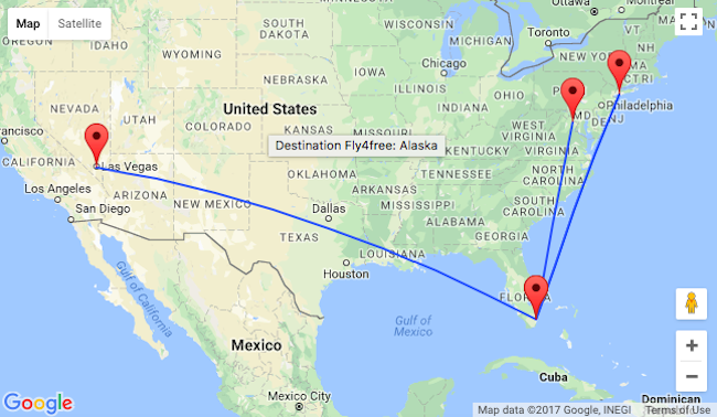 Nonstop From Miami To New York Washington And Las Vegas Or Vice: Mapa De Los Angeles A Houston At Usa Maps