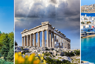 3 in 1: Santorini, Athens and Sofia from UK for just £82!