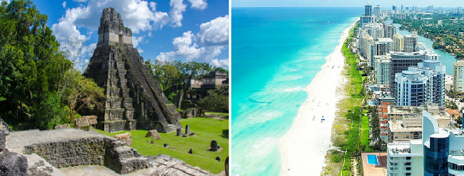 2 in 1: Toronto to Guatemala and Florida for just C$357!