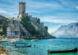 CHEAP! Break on enchanting Garda Lake: 4 nights at well-rated resort + cheap flights from London for just £65!