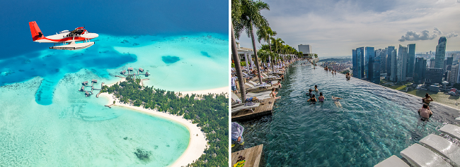 2 in 1: Hong Kong to both Singapore and the Maldives in one trip from only $331!