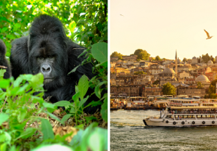 2 in 1: London to Istanbul & Uganda/ Ethiopia/ Kenya/ Rwanda/ Zanzibar/ South Africa/ Madagascar/ Mauritius from £299!