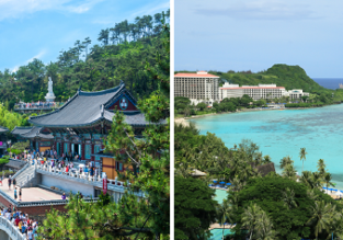 2 in 1: Many European cities to both South Korea and Guam from only €464!
