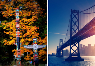 X-mas and New Year! Hong Kong to Vancouver or San Francisco from only $297!
