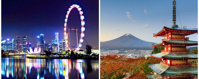 5* ANA: Tokyo and Singapore in one trip from New York from $566!