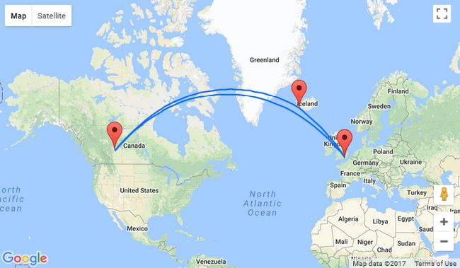London to Edmonton Canada for 297 2 in 1 with Iceland for only