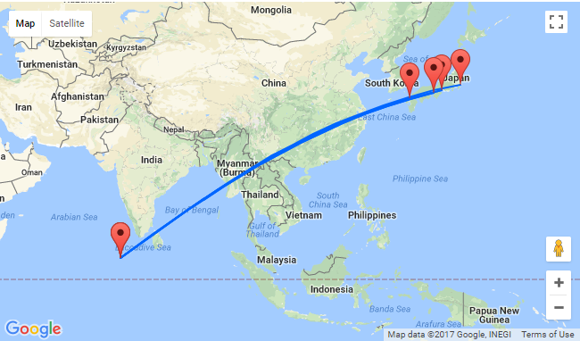 Japanese Cities To Stunning Maldives For Only - India maldives map male