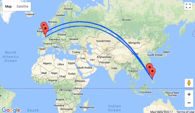 Cathay Pacific London Or Manchester To The Philippines From - London map manchester
