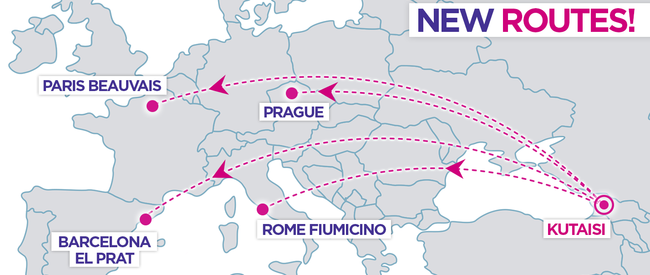 New Wizz Air Route From Kutaisi To Rome Paris Barcelona