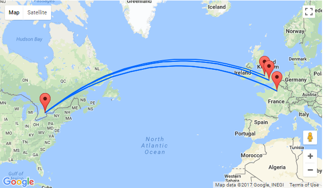 SUMMER: Non stop flights from Toronto to UK or France and ...