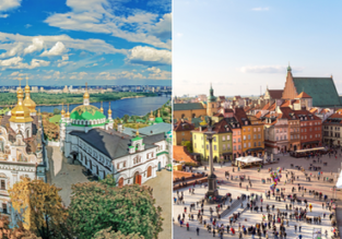 Cheap flights from Warsaw to Kyiv or vice versa from only €22!