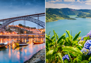Porto, Azores and Lisbon in one trip from Frankfurt for only €45!