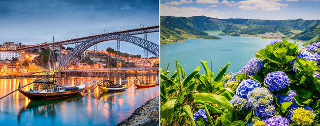 Lisbon, Azores and Porto in one trip from Vienna from €37!