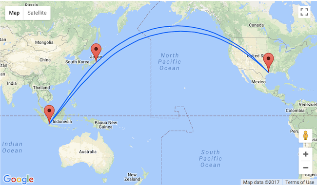 5* ANA: Indonesia and Japan in one trip from Houston for $615!