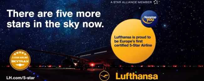 Lufthansa becomes first European airline with 5-star Skytrax rating!