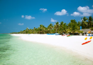X-mas and New Year! Non-stop from Kochi to exotic Agatti Atoll, Lakshadweep Islands for only $152!