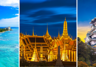 Summer trip around the world: France, Canada, Hawaii, Japan, Singapore and Thailand from Germany for only €862!