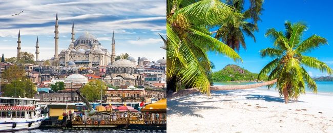 Seychelles & Istanbul in one trip from UK from only £339!